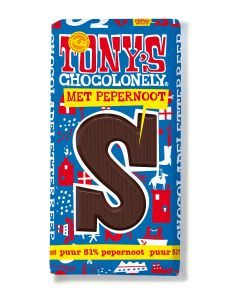 Tony's Chocolonely 180gr Letterreep S Puur Pepernoot
