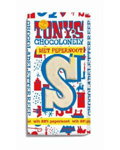 Tony's Chocolonely 180gr Letterreep S Wit Pepernoot