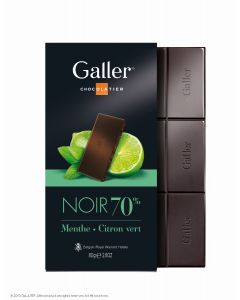 Galler Tablet Puur Mint/ Limoen 70% cacao 80gr