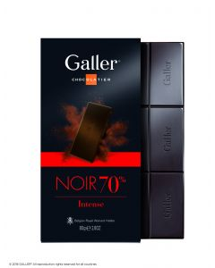 Galler Tablet Puur Intense 70% cacao  80gr