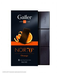 Galler Tablet Puur Sinaasappel 70% cacao 80gr