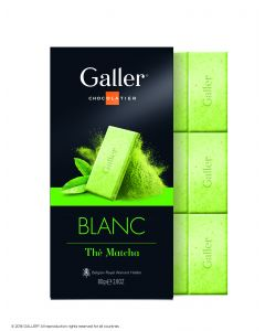 Galler Tablet Wit Matcha Thee 80gr
